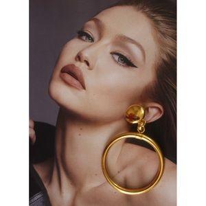 Monet vintage earring gold hoop